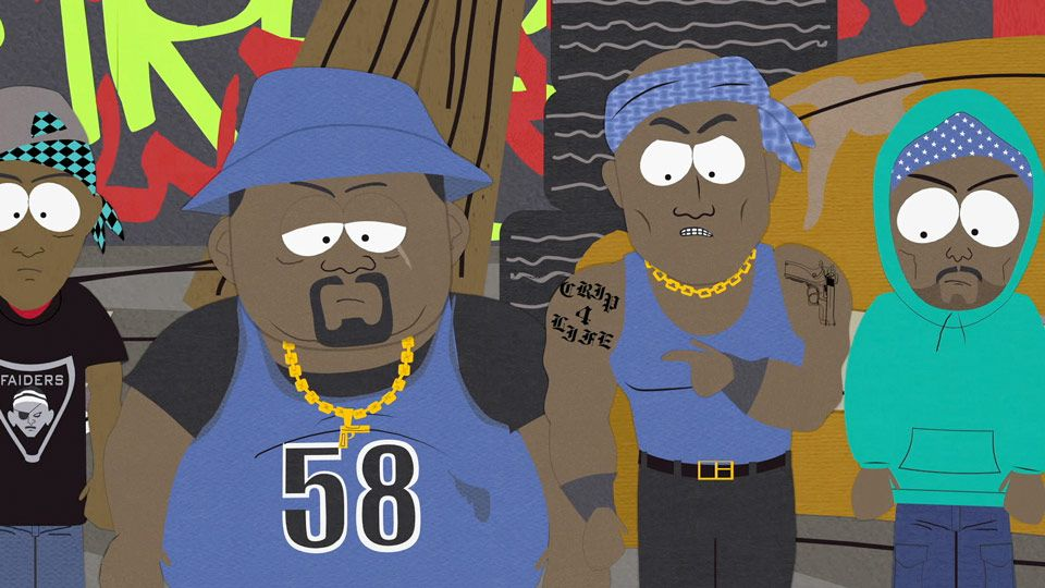 Crips 4 life video clip south park studios uk ireland - Blood gang cartoon ...
